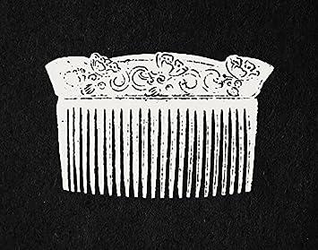 Vintage pour femme peigne salon art mural et décoration de barbier