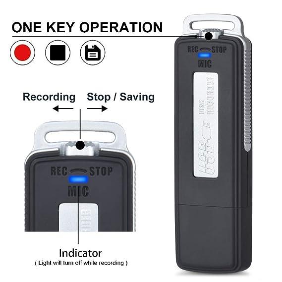 Amazon.com: Grabadora de voz digital USB para conferencias ...