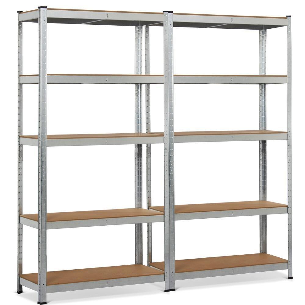 Topeakmart 5 Tier Storage Rack Heavy Duty Shelf Steel Shelving Units,71''Height,1929 lb Capacity per Bay (2 Bay Garage Shelves)