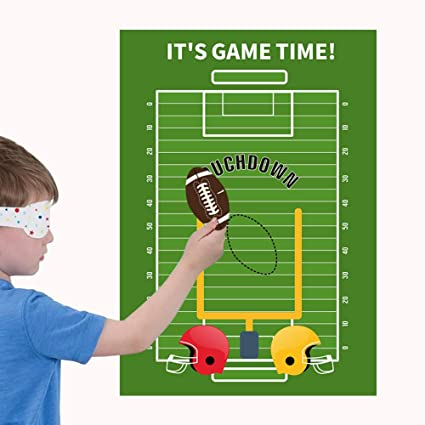 Pin The Football Game - Sports Game Day School Class Party Decorations Supplies
