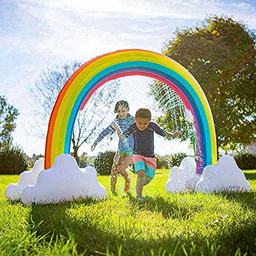 Rainbow Sprinkler Outdoor Inflatable Pools Summer Fun Outside Backyard Family Water/Birthday Party Toy for Children Infants Toddlers,Boys, Girls and Big Kids