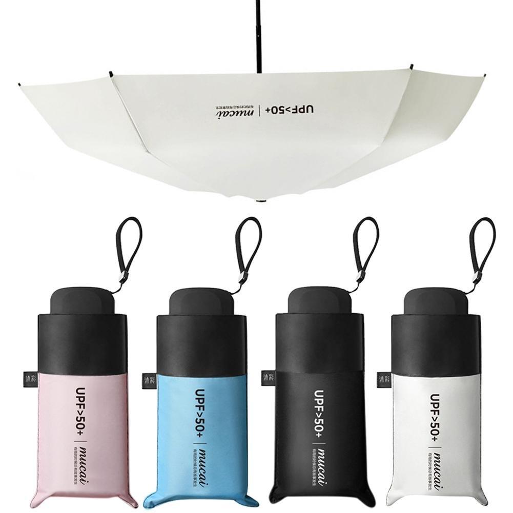 Sombrilla pequeño mini Funda Pantalla paraguas sombrilla Mujer pantalla ultraligera pequeño UV faltender Protección Solar Para Mujer Y Niños tinging, ...