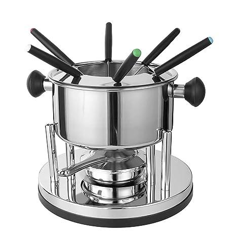 Juego de fondue de acero inoxidable con 6 tenedores para ...