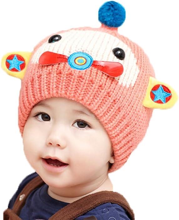 40dfb18aa21671 Baby Boy Knitted crochet winter hats Kamikaze Hat Doggy Beanie Hats Baby  Children Jersey Slouch Beanie Long Beanie Star Unisex Cotton