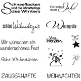 RAYHER 59841000Clear Stamp Natale/inverno, 96,5X 91X 3,2mm
