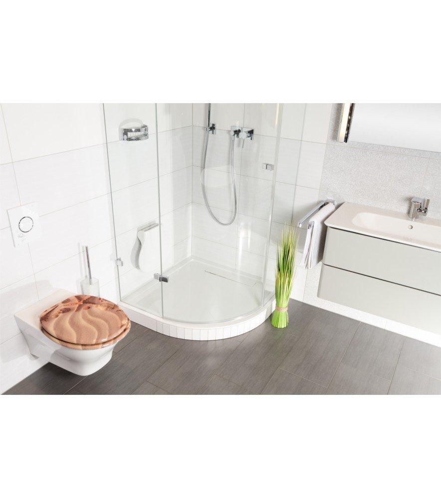 Charni/ères robustes Home Fixation facile Abattant WC Finition de haute qualit/é