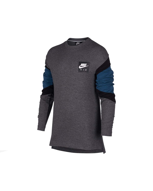 Nike Air Niños, Charcoal Heathr/Blue Force/Black, M: Amazon.es ...