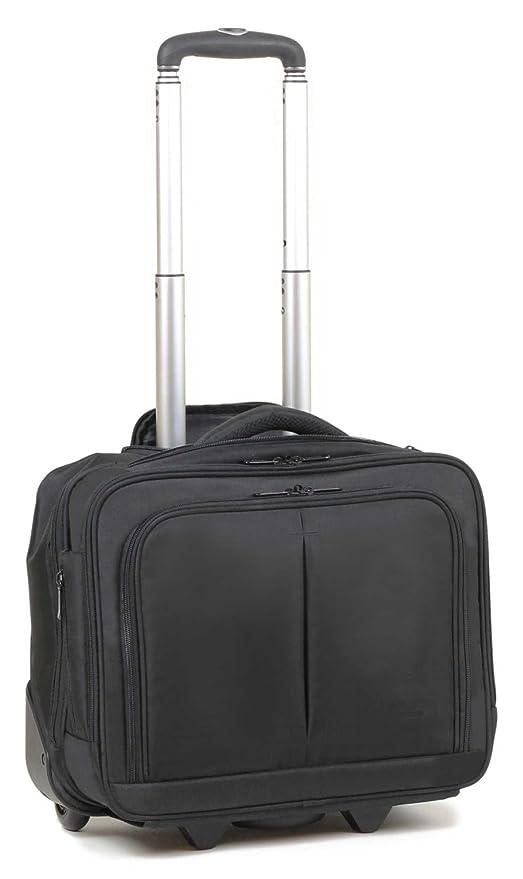 Maleta Maletín para ordenador portátil iPad equipaje de mano Trolley con ruedas (002 Negro)