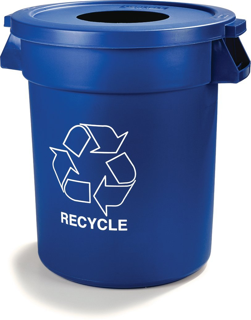 Carlisle 341032REC14 Bronco LLDPE Recycle Waste Container, 32-gal. Capacity, 22.37 x 27-3/4, Blue (Case of 4) by Carlisle (Image #6)