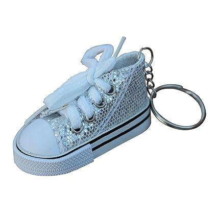 Lienzo zapatillas zapatillas de tenis llavero en varios ...