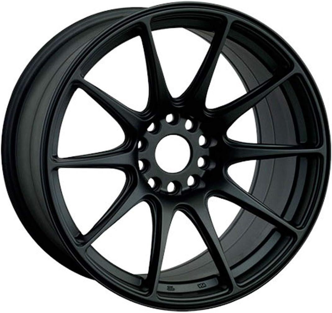 XXR WHEELS 527 Rim 18X8.75 5X100//5X114.3 Offset 35 Flat Black Quantity of 1