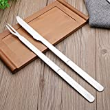 Grill Tool Set -2 Piece Heavy Duty Stainless Steel Fork and Knife Air Fryer Accessories
