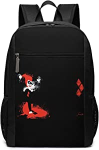 Harley Quinn Travel Laptop Backpack, Business Anti Theft Slim Durable Laptops Backpack, Water Resistant College School Computer Bag Gifts for Men & Women Fits 17 Inch Notebook, Black