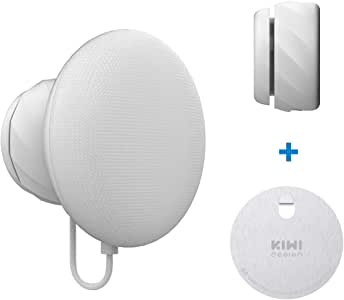 KIWI design Wall Mount Holder for Nest Mini by Google (2nd gen), Space Saving Outlet Mount Superb Cord Management Compatible with AU Version for Nest Mini by Google (Light Grey)