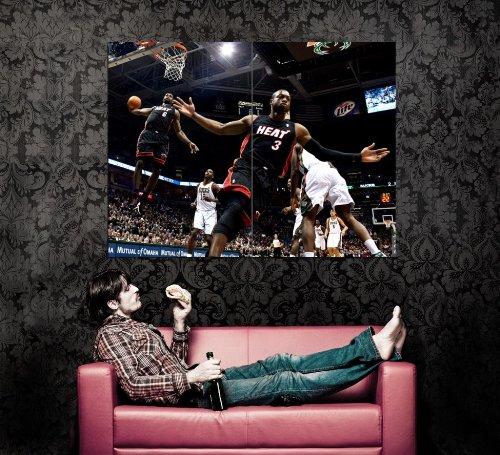 XD8871 LeBron James Dwyane Wade Alley-oop NBA HUGE GIANT WALL Print POSTER