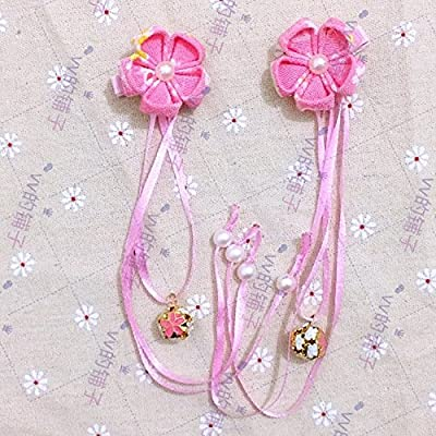 Japan Japanese crepe kimono wind bathrobe accessories hair accessories flower bell flower pearl hairpin and wind for women girl lady