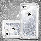 iPhone 6 Plus Case, iPhone 6S Plus Case, JAKPAK Shockproof Glitter Flowing Liquid Bling Sparkle Cover for Girl Woman Heavy Duty Full Body Protective Shell for 5.5