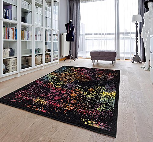 Area Multi 8x10 (6495 Distressed Multi 8 x 10 Area Rug Carpet Large)