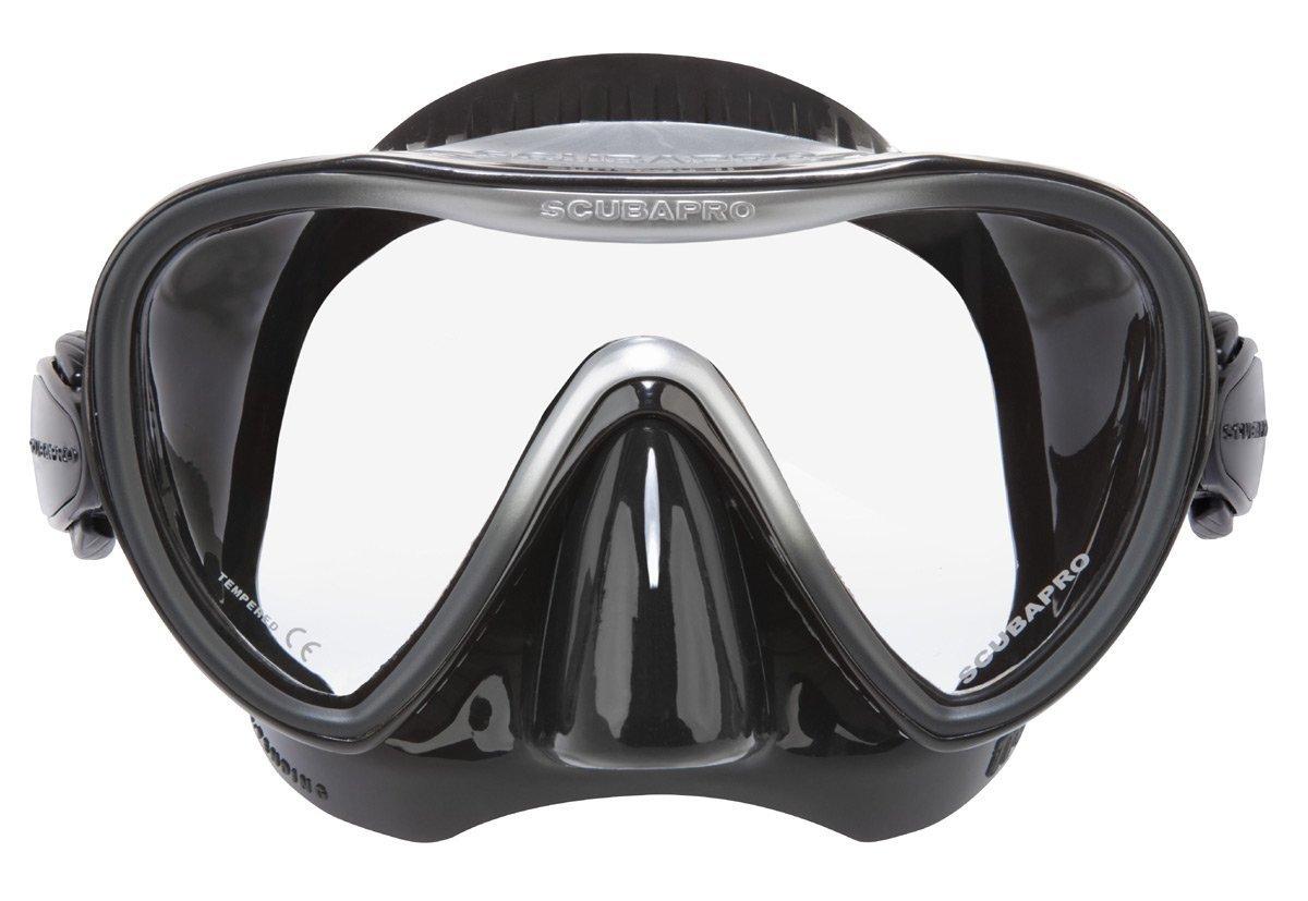 Scubapro Synergy 2 Single Lens Scuba Diving Mask (Black/Silver) by Scubapro