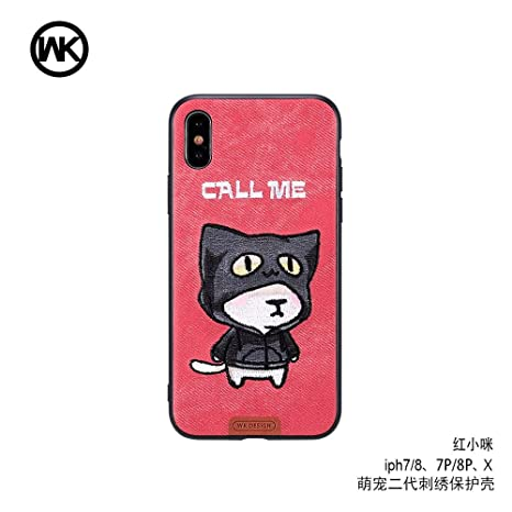 8b034f486c69 WK Design Cartoon Embroidery Animal Leather Phone Case  Amazon.in   Electronics