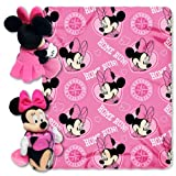 MLB Seattle Mariners Minnie Mouse 40x50-Inch Throw with 14-Inch Hugger