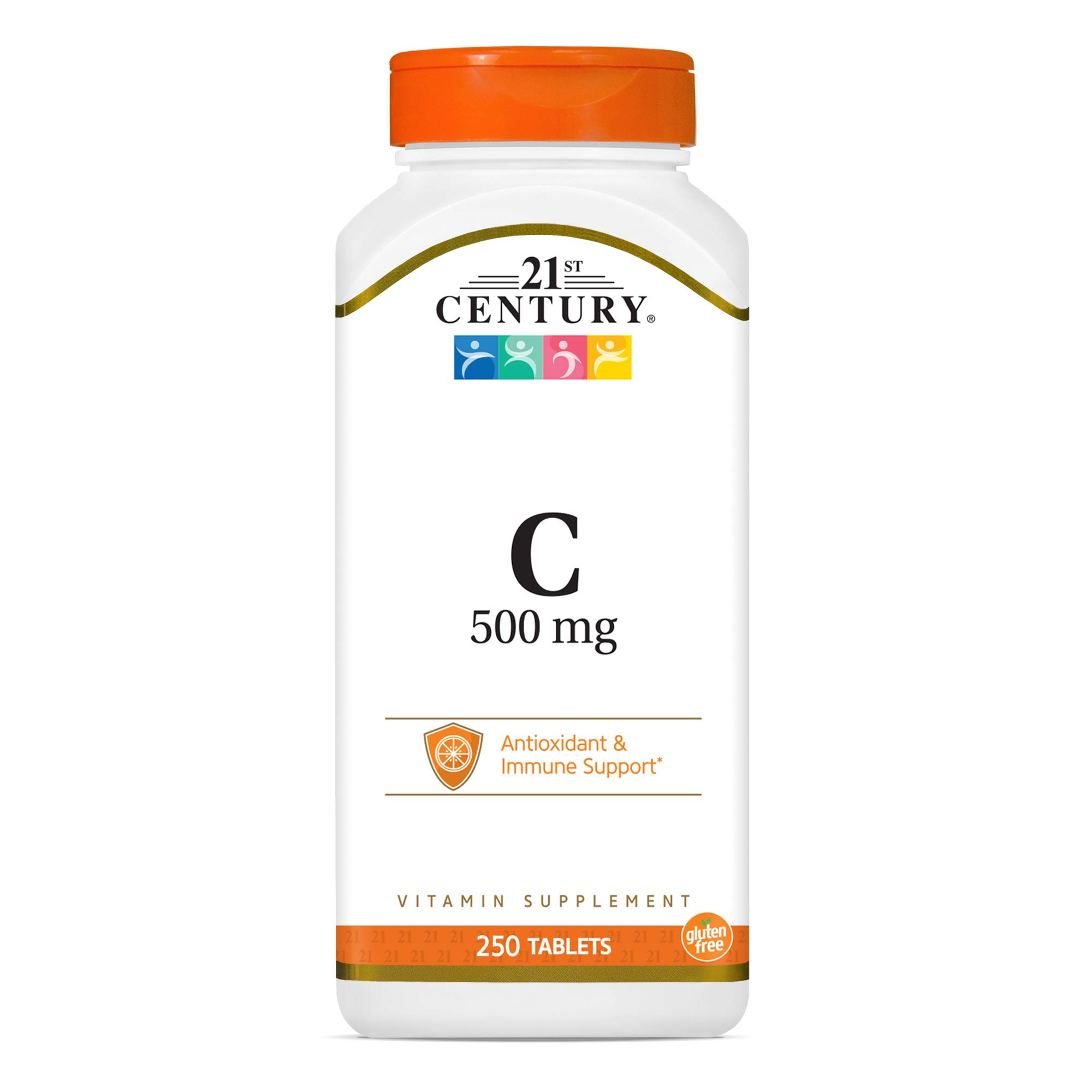 21st Century C 500 mg Tablets, A3841 No Artificial Flavor 250 Count