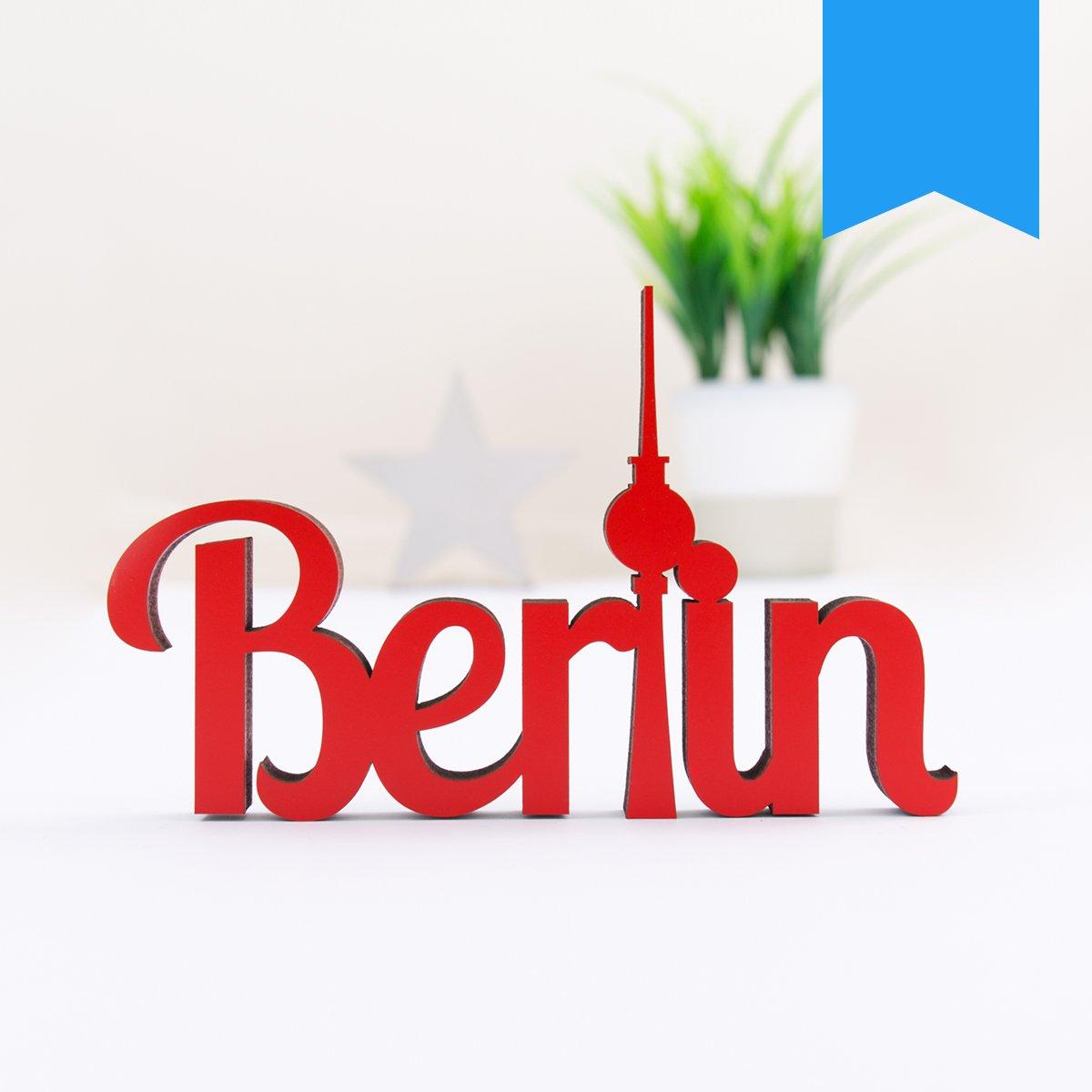 Dekobuchstaben 32 Farben zur Wahl Blau KLEINLAUT 3D-Schriftzug Berlin in Gr/ö/ße: 15 x 9,5 cm