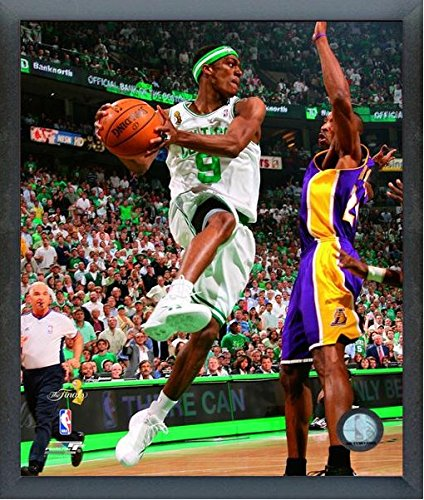 "Rajon Rondo Boston Celtics 2008 NBA Finals Action Photo (Size: 12"" x 15"") Framed"