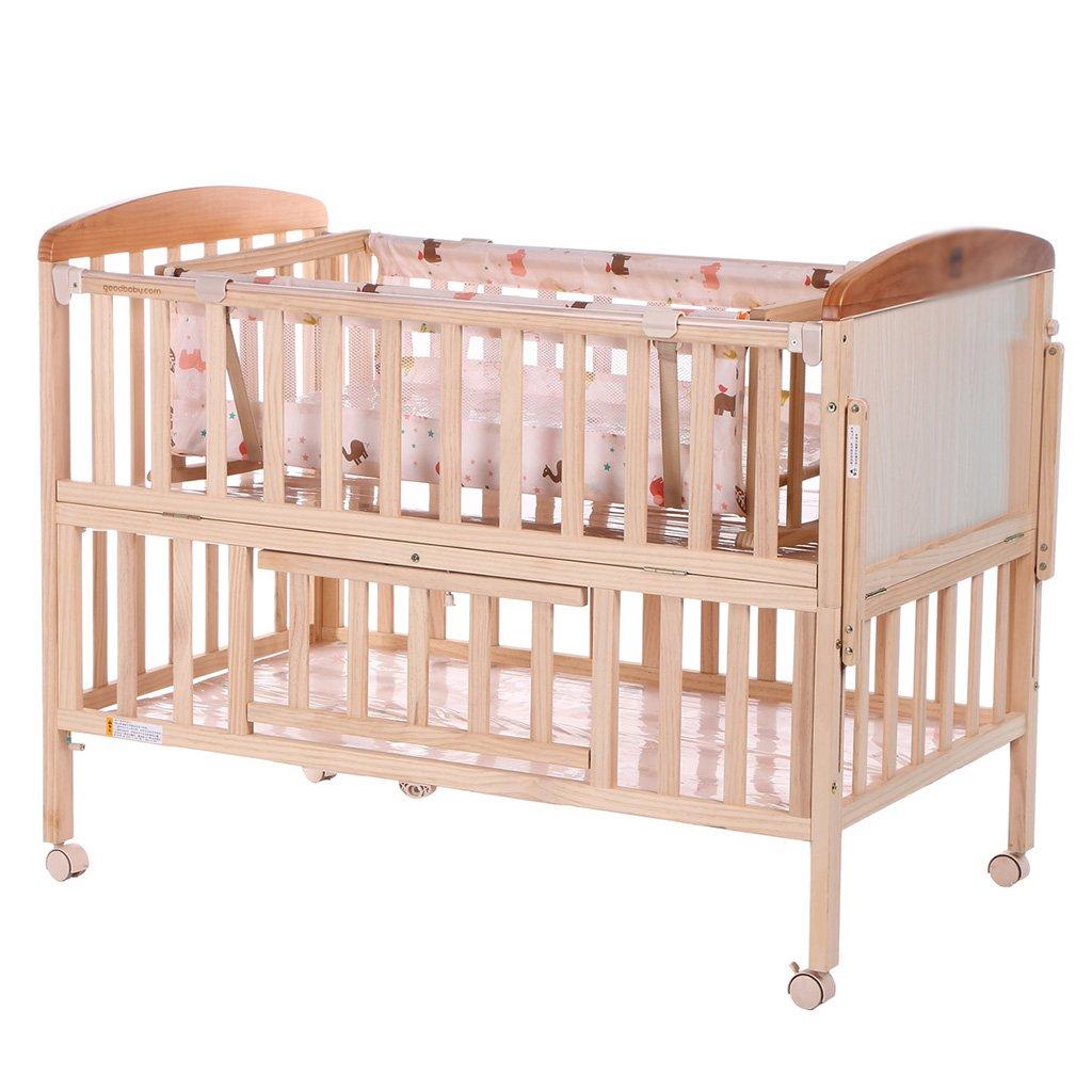 TYJ Kinderbetten Kinderbett Multifunktionales Kinderbett Massivholz Mit Moskitonetzen Mit Shaker Umweltschutz Einfache Mode Tasteless Sicherheit Babybett