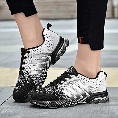 Cushion De Course Air Chaussures Athltiques Casual Sports Confort Femmes Baskets Respirant Gris Semelle Hommes 1qW0gwWC5