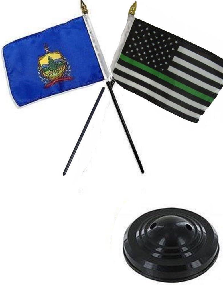 Vermont Estado y fino línea verde juego de escritorio mesa de ...