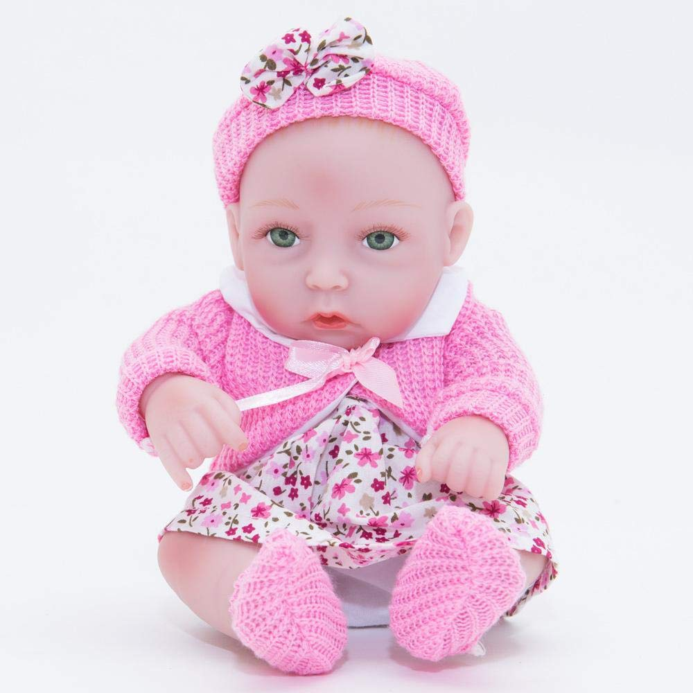 Hongge Reborn Baby Doll,Kinder Spielzeug Spielzeug Spielzeug Geschenk Puppe realistische Baby Baden kann volle Gel Silikon Puppe 28 cm 1c0396