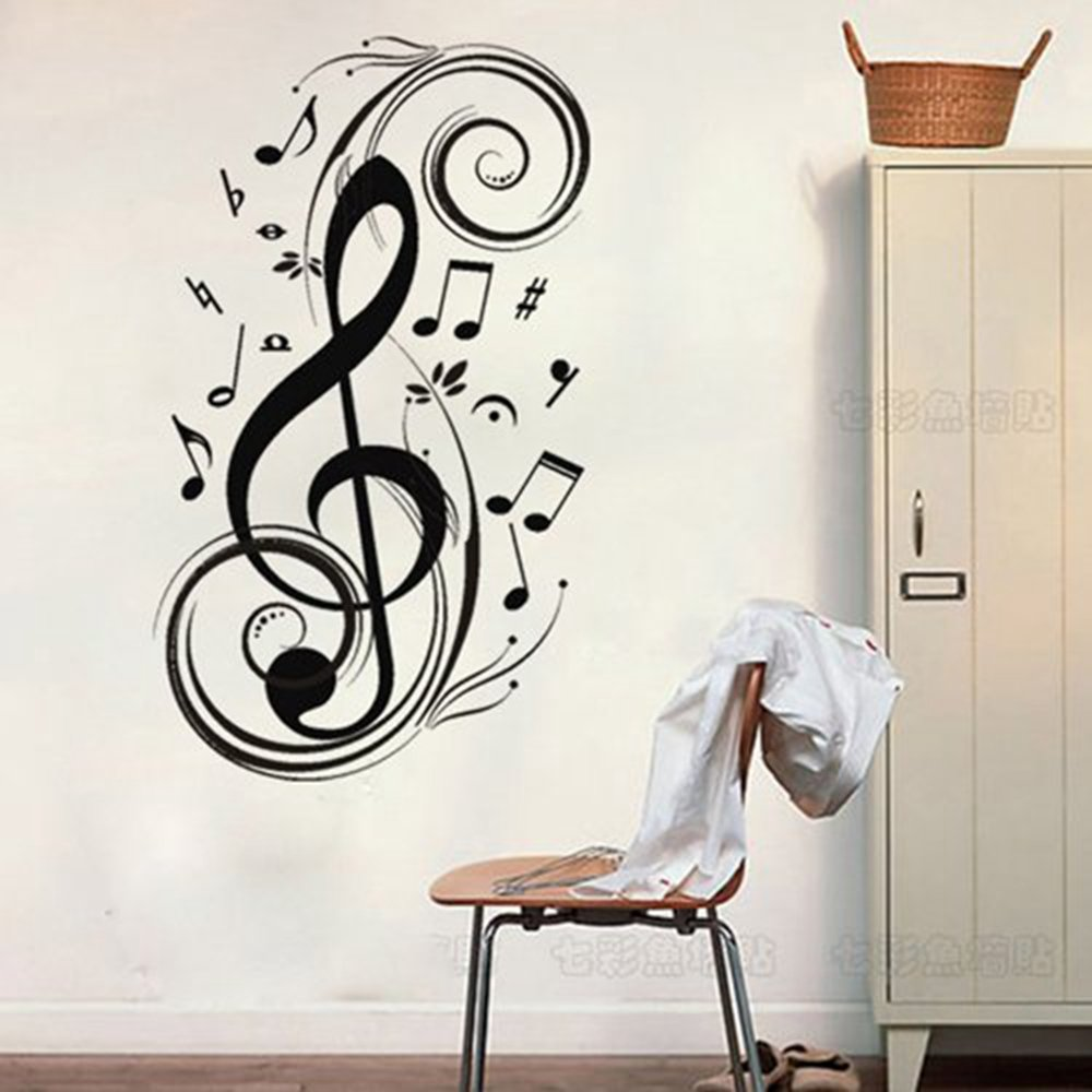 Amazon Colorfulhall 236 X 472 Black Removable Wall Sticker