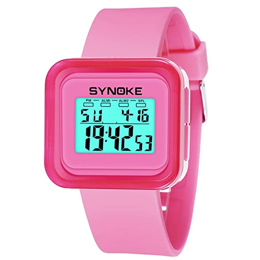 Relojes Niños,❤LMMVP❤Niños chicos estudiantes impermeable deportes reloj LED digital fecha reloj