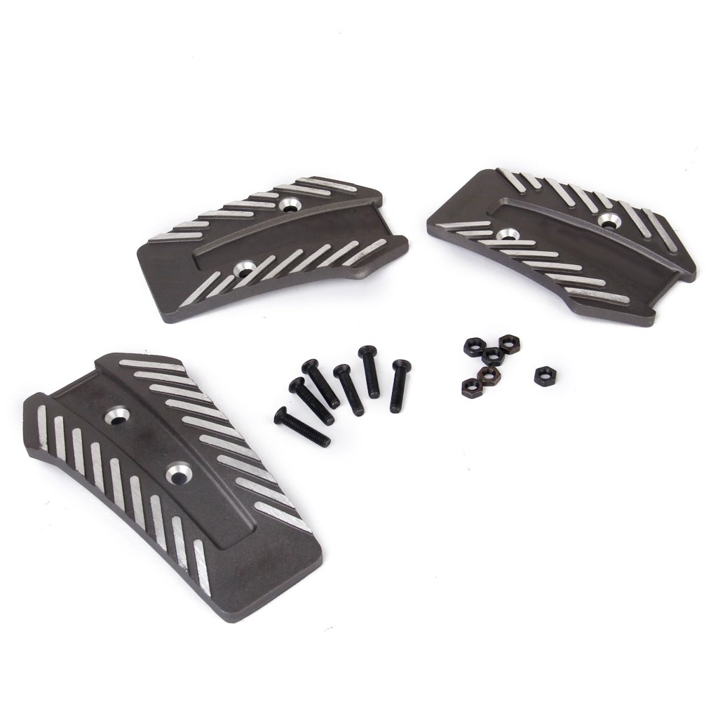 Pedal de freno y embrague Kit Pedales de aluminio universal para coche D Plata Manual + Gris: Amazon.es: Coche y moto