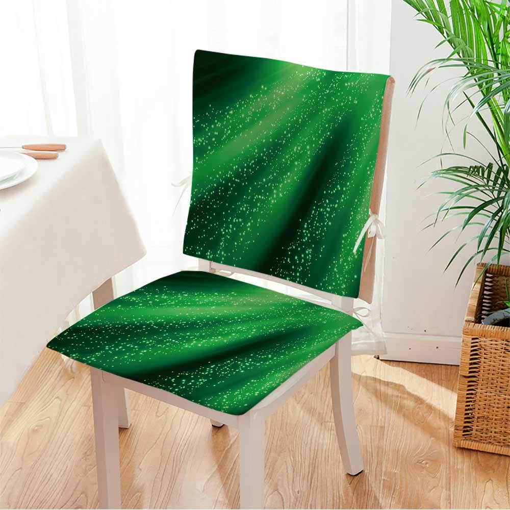 Miki home Seat Set Cushion Abstract Glowing Background 2 Piece Classic Decorative Chair pad Mat:W17 x H17/Backrest:W17 x H36