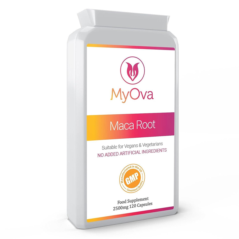 MyOva - Suplemento de raíz de maca - Extracto de gran potencia - Producto vegetariano - 2500 mg, 120 cápsulas: Amazon.es: Salud y cuidado personal