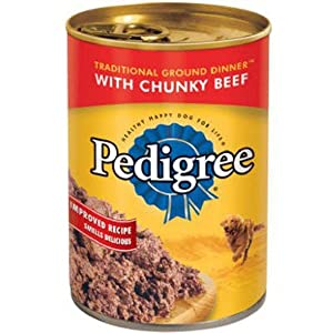 Pedigree Wet Food Pedigree Chopped Ground Dinner With Beef Adult Canned Wet Dog Food, 13.2 Oz. Can, 13.2 Oz