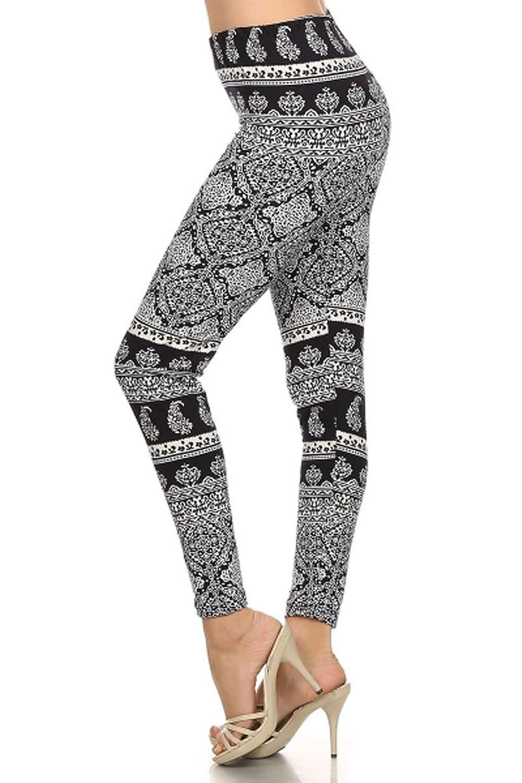 Trendyfriday Women's One Size Full Length Print Leggings
