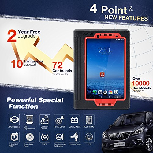 LAUNCH X431 V (X431 PRO) 8inch WiFi/Bluetooth Full System Diagnostic Tool Support Injector Coding and Key Coding, 2 Years Free Update by LAUNCH (Image #2)