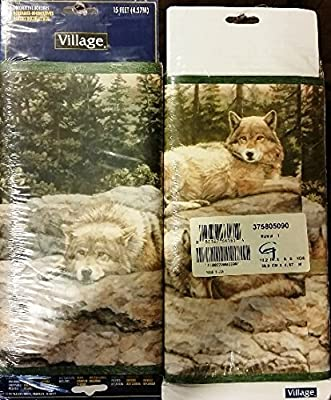 Village Wolf Run Wallpaper Border