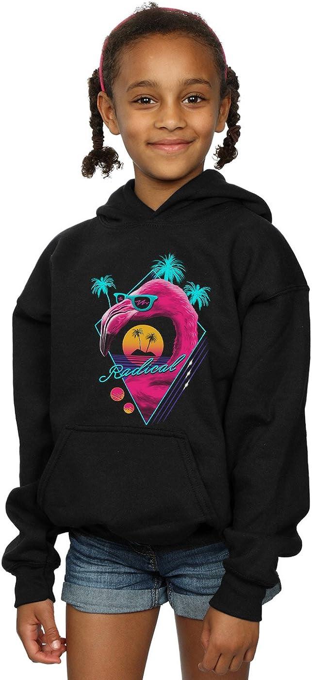 Vincent Trinidad Girls Rad Flamingo Hoodie Black 7-8 Years