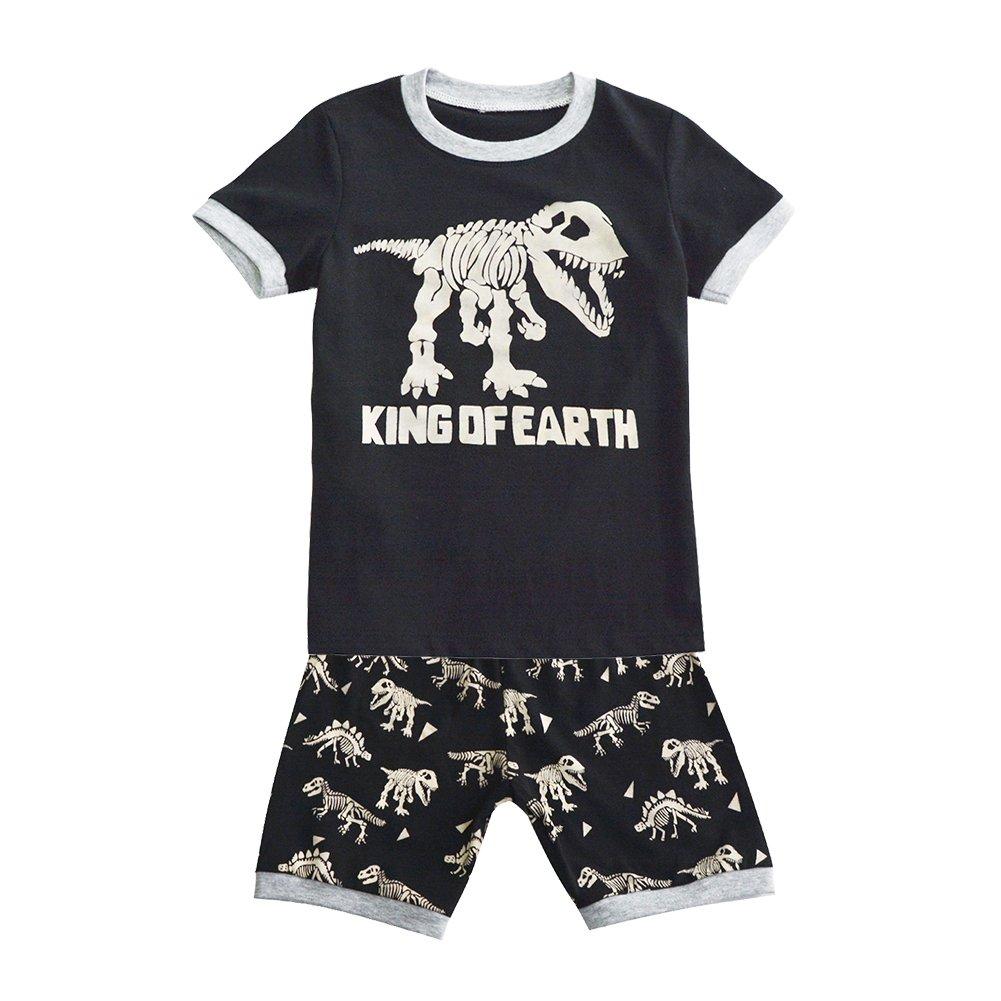 Toddler Boys Pajamas Short Sleeve Kids 2 Piece PJs Clothes Set