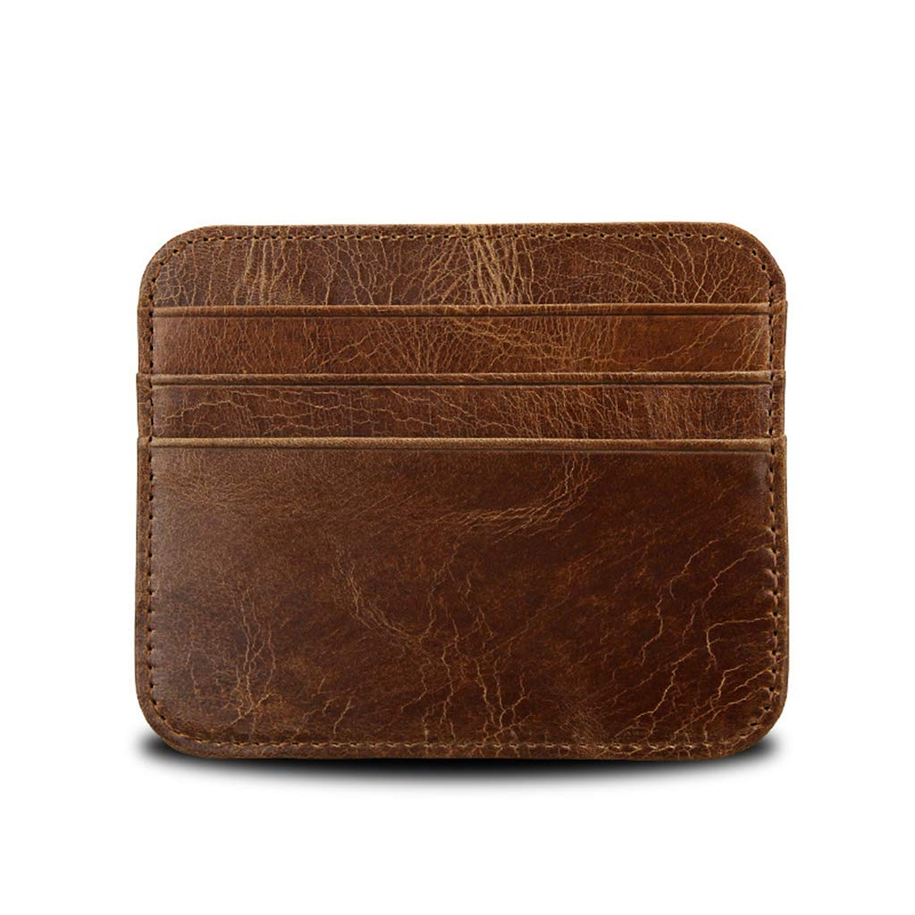 RFID Blocking Leather Slim Minimalist Front Pocket Wallets Thin Card Holder Badiya CPIH04219BNA
