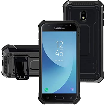 KUAWEI para Funda Samsung Galaxy J3 2017 Cover Samsung J3 2017 Funda Armadura Carcasa con Soporte Protección Pesada Choque Tecnología Absorción para ...