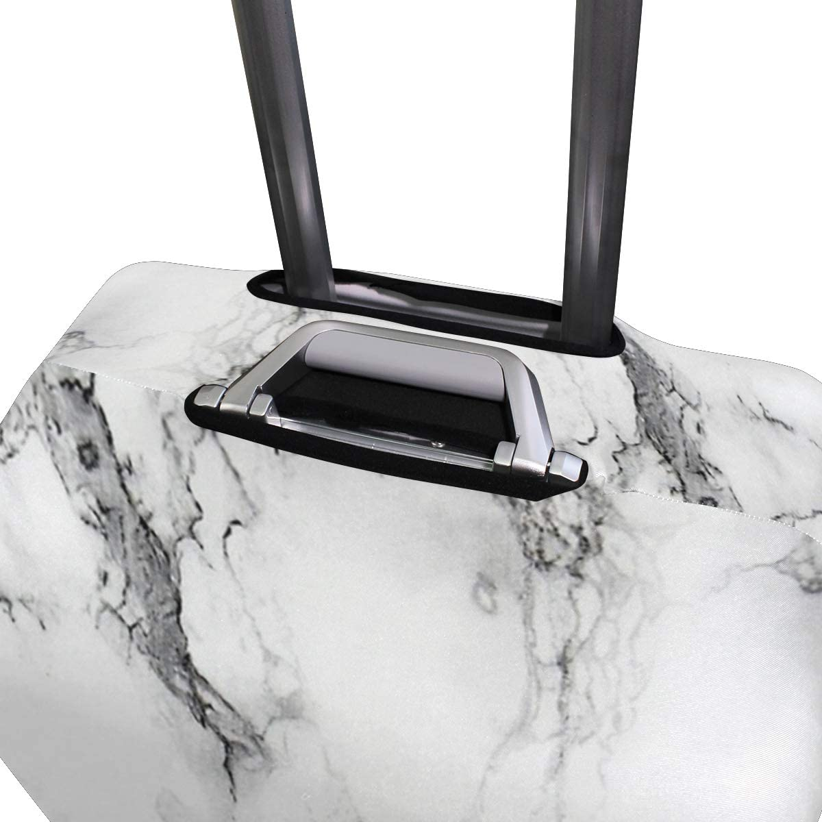 White Marble Design Traveler Lightweight Rotating Luggage Cover Can Carry With You Can Expand Travel Bag Trolley Rolling Luggage Cover
