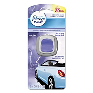Febreze Car Vent Air Freshener, Midnight Storm, 0.06 Ounce (Pack of 8)