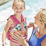 Swim School- Confidence Building System Girls Printed Swim Vest with Safety Strap, Small/Medium