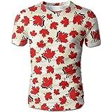 YOIGNG Hawaiian 3D Printed Colombia Flag T-Shirt Short Sleeve Crewneck Tee Pullover Casual Tops
