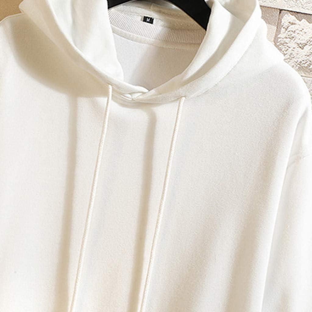 Mens Casual Loose Hoodie Letter Printed Pullover Sweatshirt Building Printed Lightweight Athletic Tops